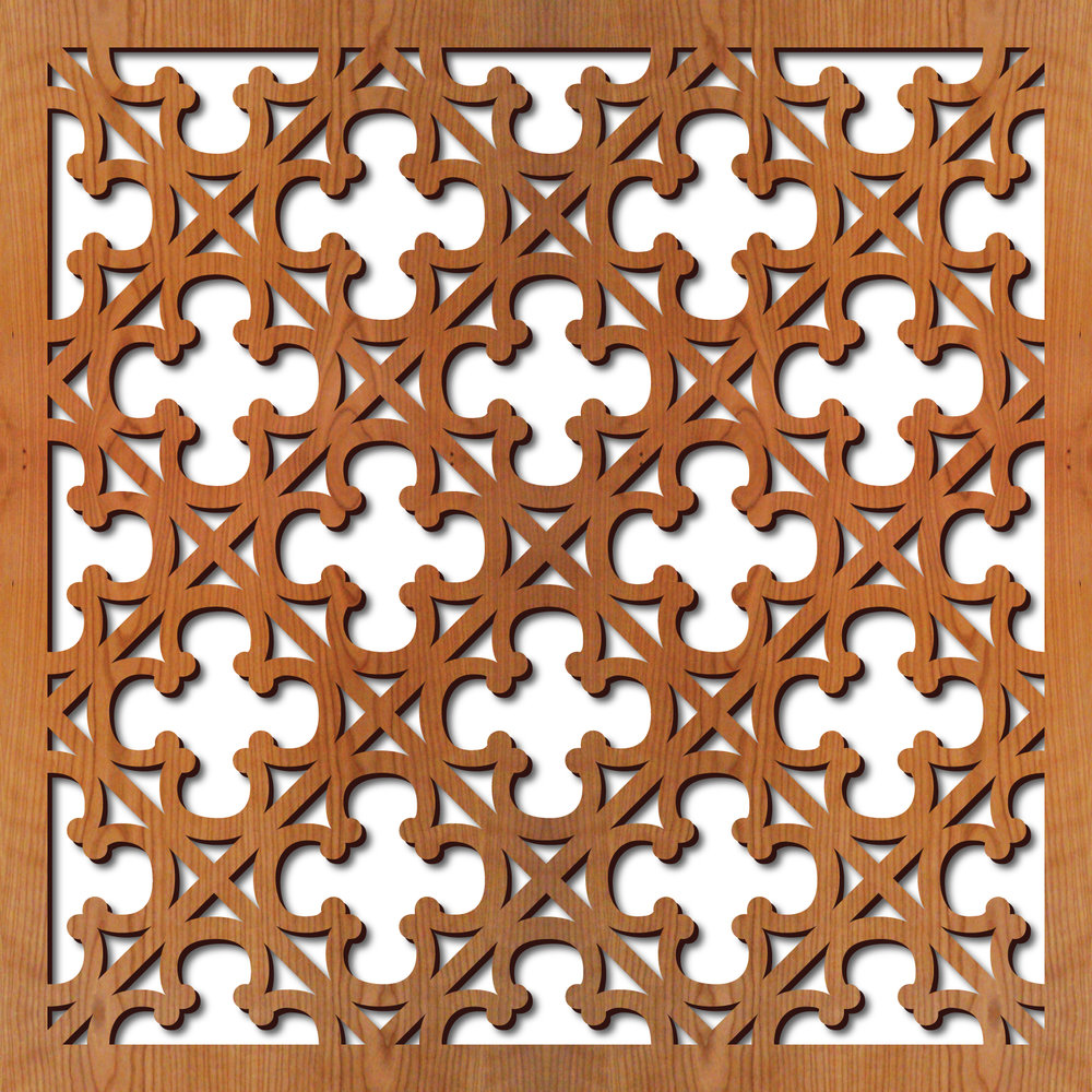 "Gothic Grille pattern at 23"" x 23"" scale"