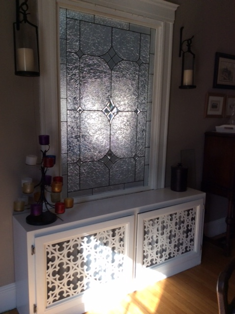Gothic Grille pattern, decorative cabinetry