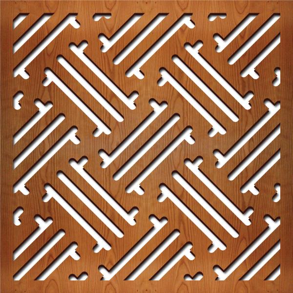 "Hawaiian Pattern at 23"" x 23"" scale"