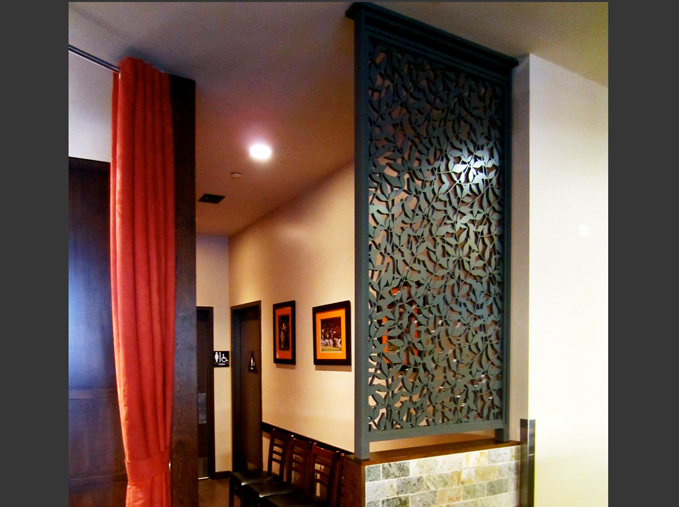 Jack's Restaurant, San Francisco, CA -  Bellusci Design  Heavenly Bamboo, wall partition