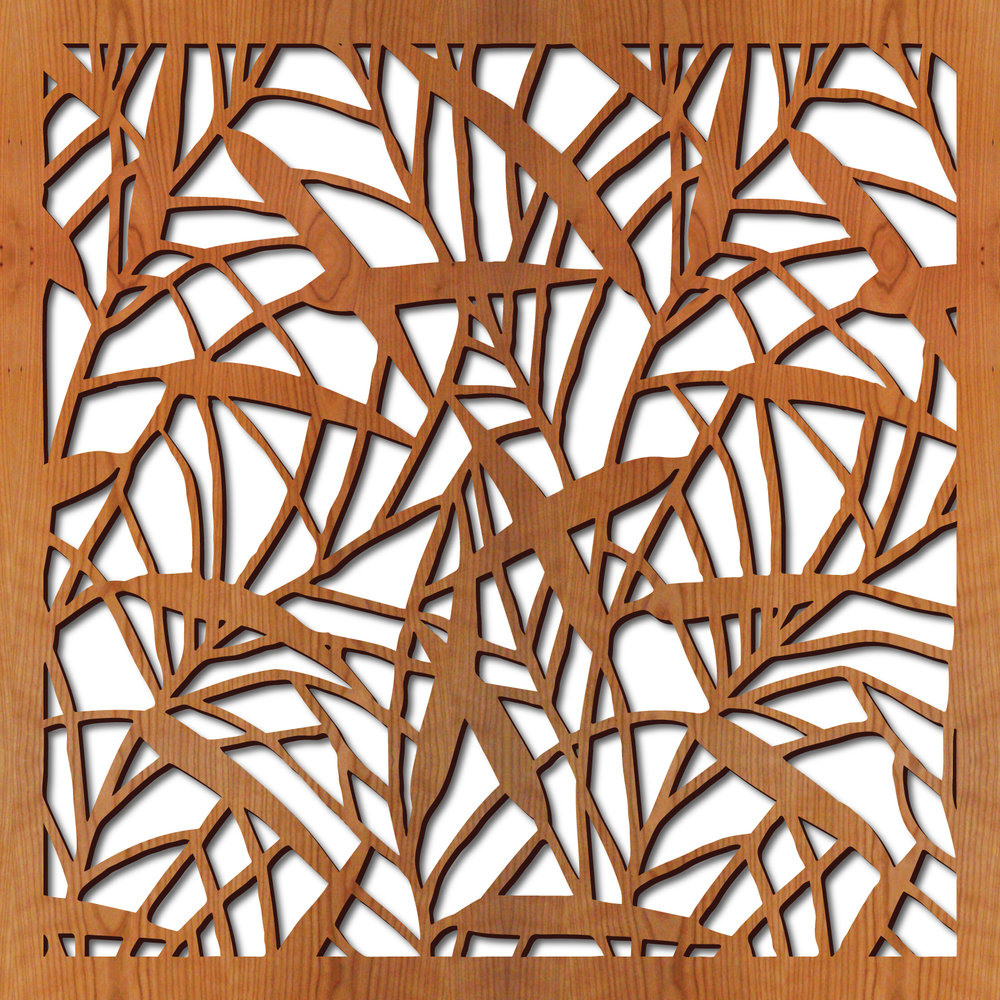 """Japanese Bamboo pattern at 23"""" x 23"""" scale"""