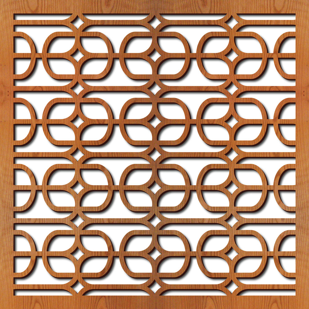 "Lounge Grille pattern at 23"" x 23"" scale"