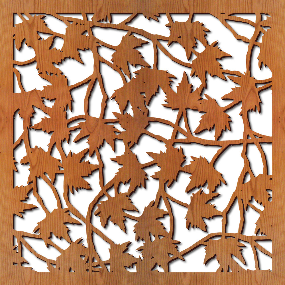 Maple Leaves Laser Cut Pattern Lightwave Laser