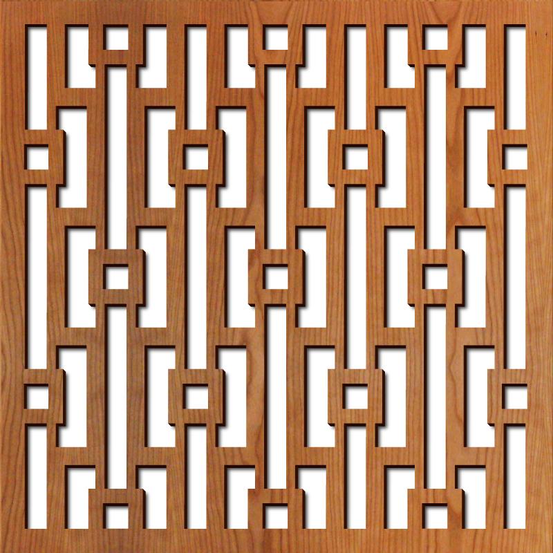 "Mod Geometric pattern at 23"" x 23"" scale"