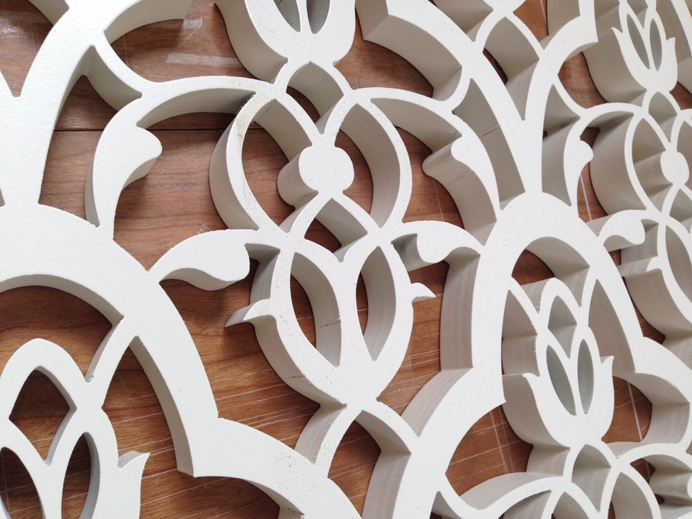 Moorish Leaves pattern - laser cut detail