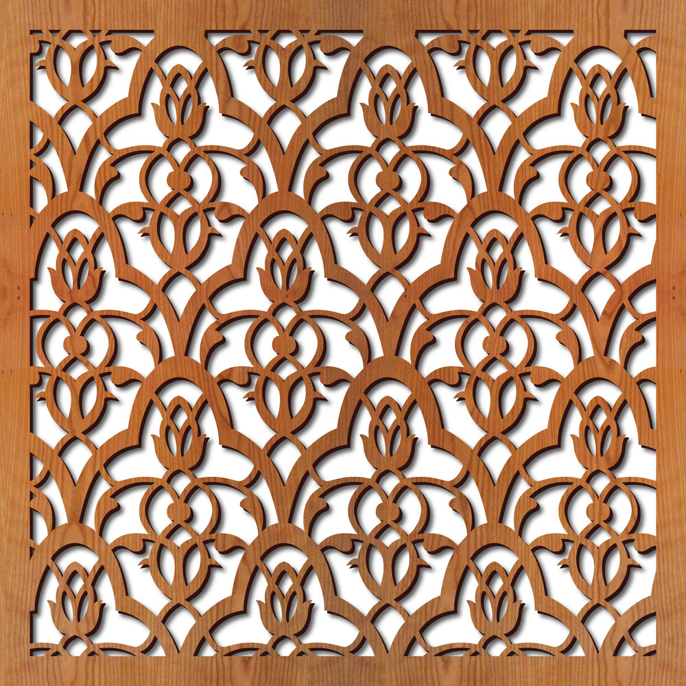 "Moorish Leaves pattern at 23"" x 23"" scale"