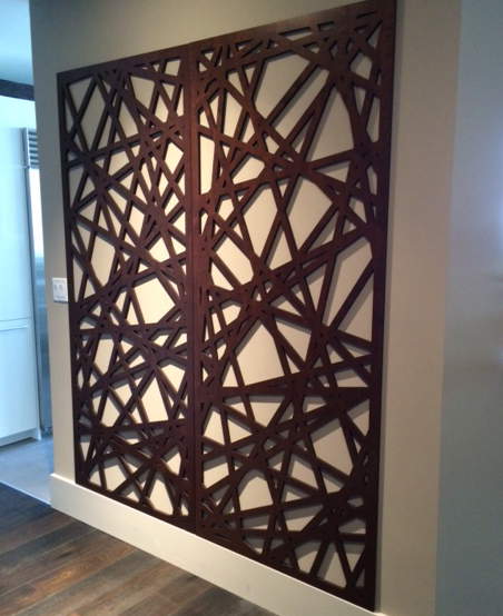 Palomar pattern, laser cut wall panel