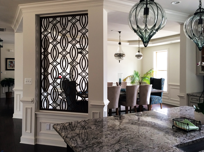Paris pattern, laser cut wall partition
