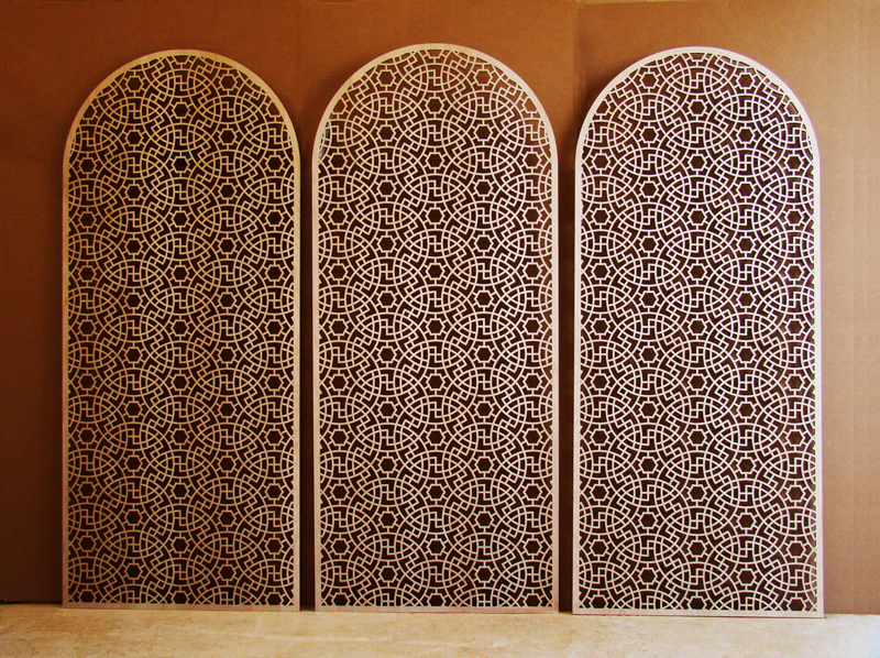 Persian Circles pattern, laser cut wall panels