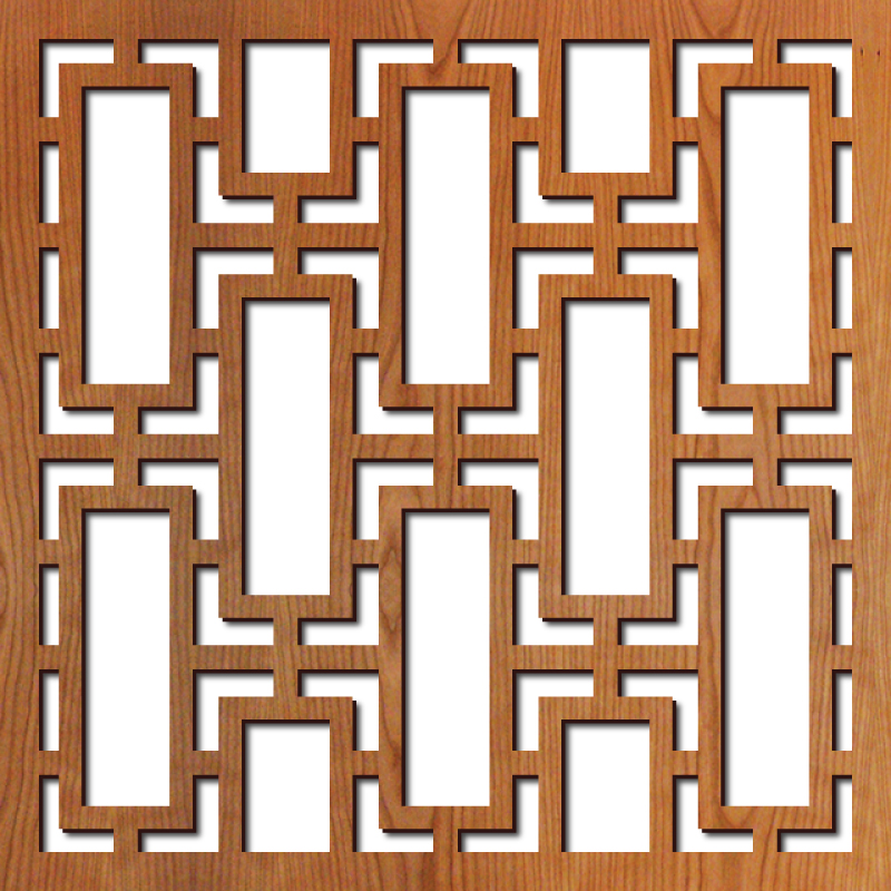 "Rectangular Lattice pattern at 23"" x 23"" scale"