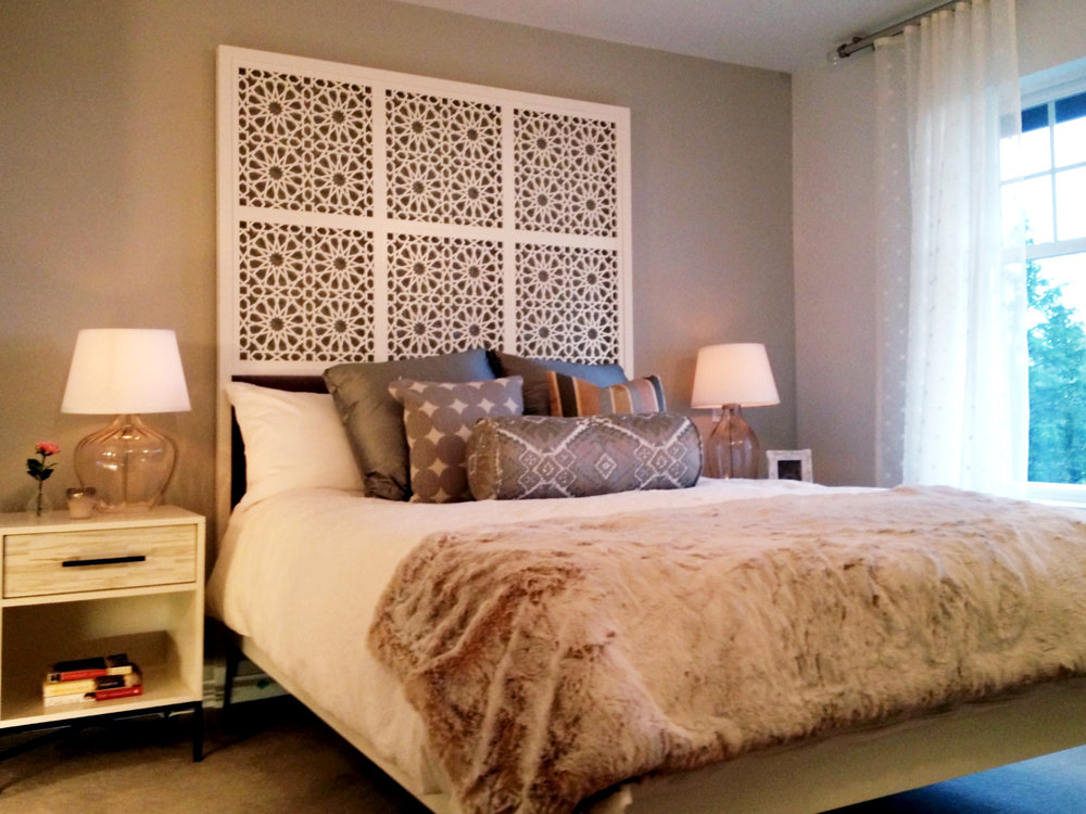 Richmond, BC  - Bari Design  Star Pattern headboard