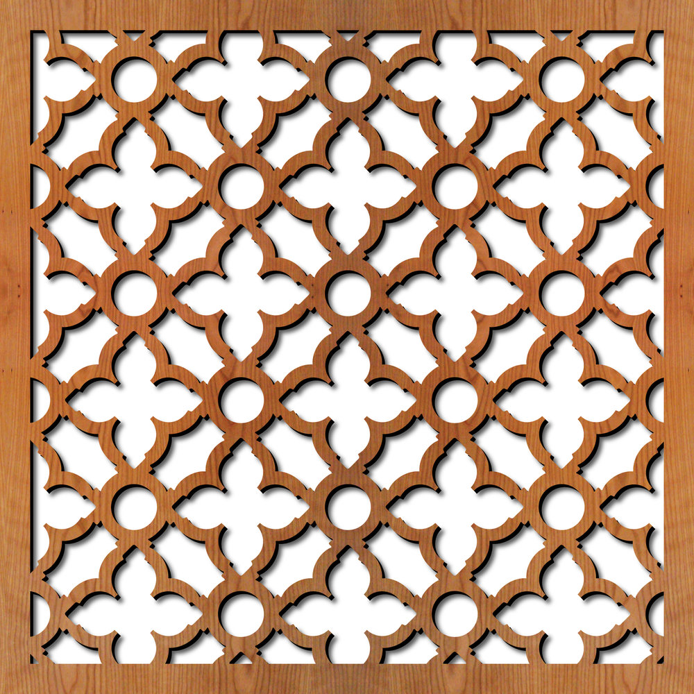 "Swift Grille pattern at 23"" x 23"" scale"