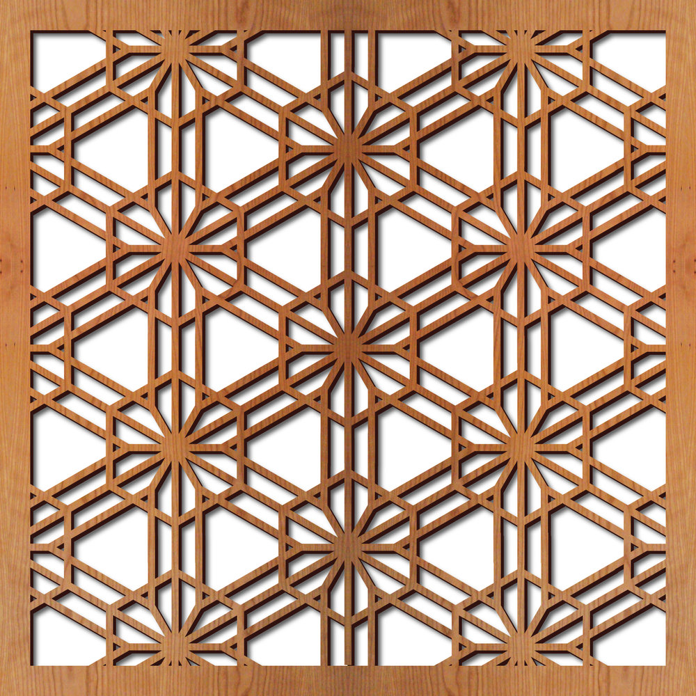"Tortoise Shell 1 pattern at 23"" x 23"" scale"