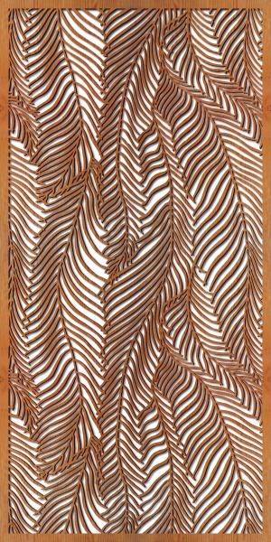 Wispy Palms pattern at 4' x 8' scale