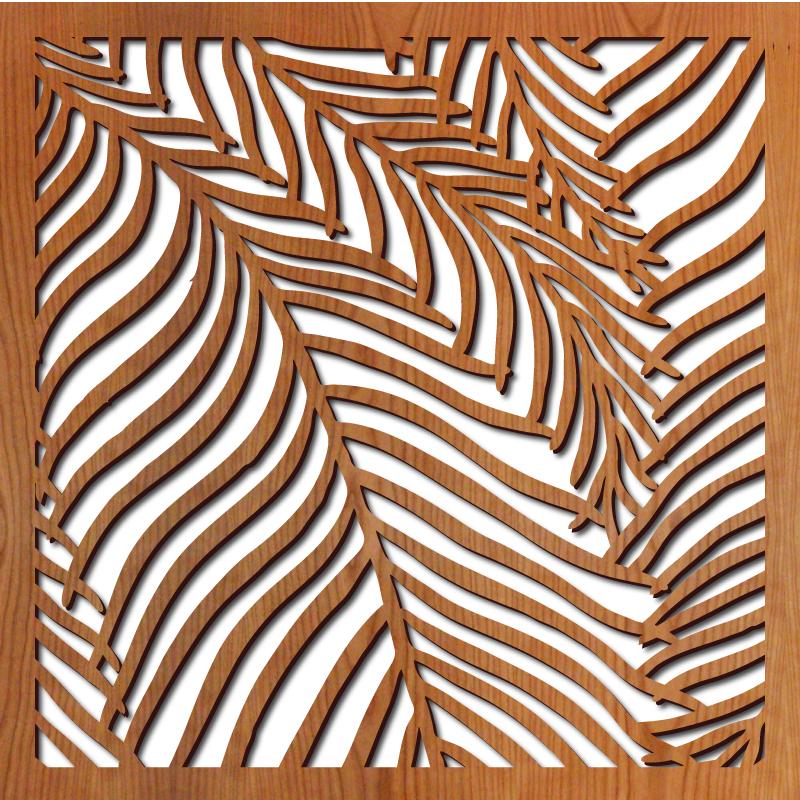 "Wispy Palms pattern at 23"" x 23"" scale"