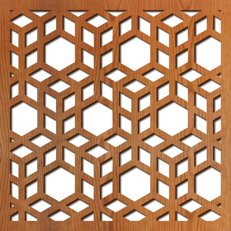 """3D Cubes 23"""" x 23"""" scale"""
