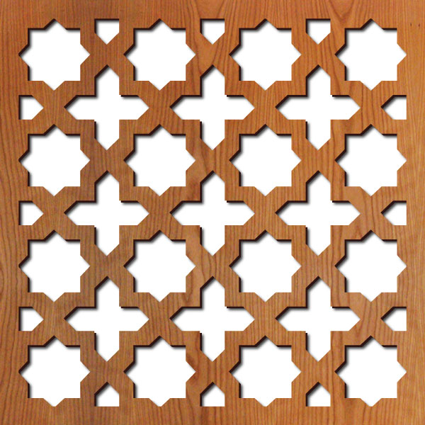 """Arabesque pattern at 23"""" x 23"""" scale"""