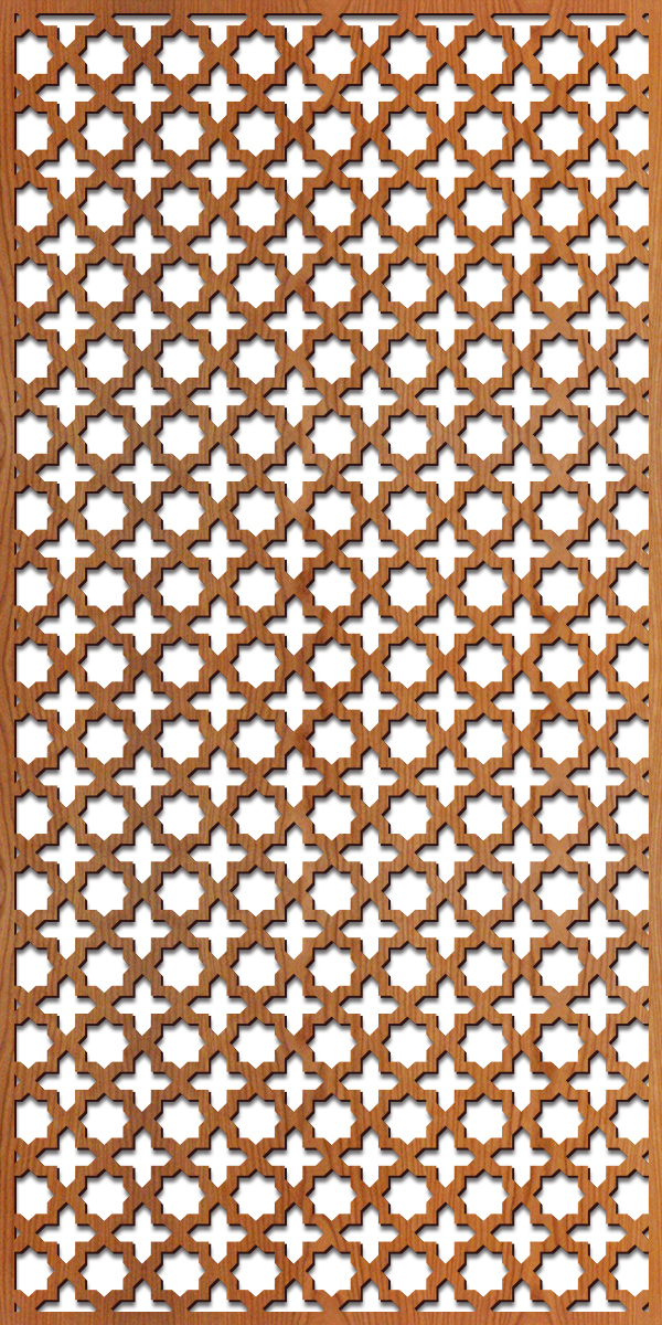 Arabesque pattern at 4' x 8' scale