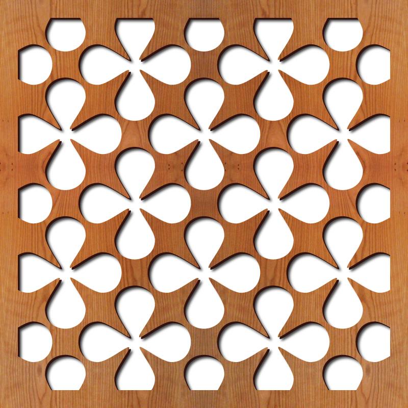 "Atomic Laser cut pattern, 23"" x 23"""