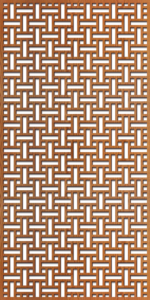 Basketweave pattern at 4' x 8' scale
