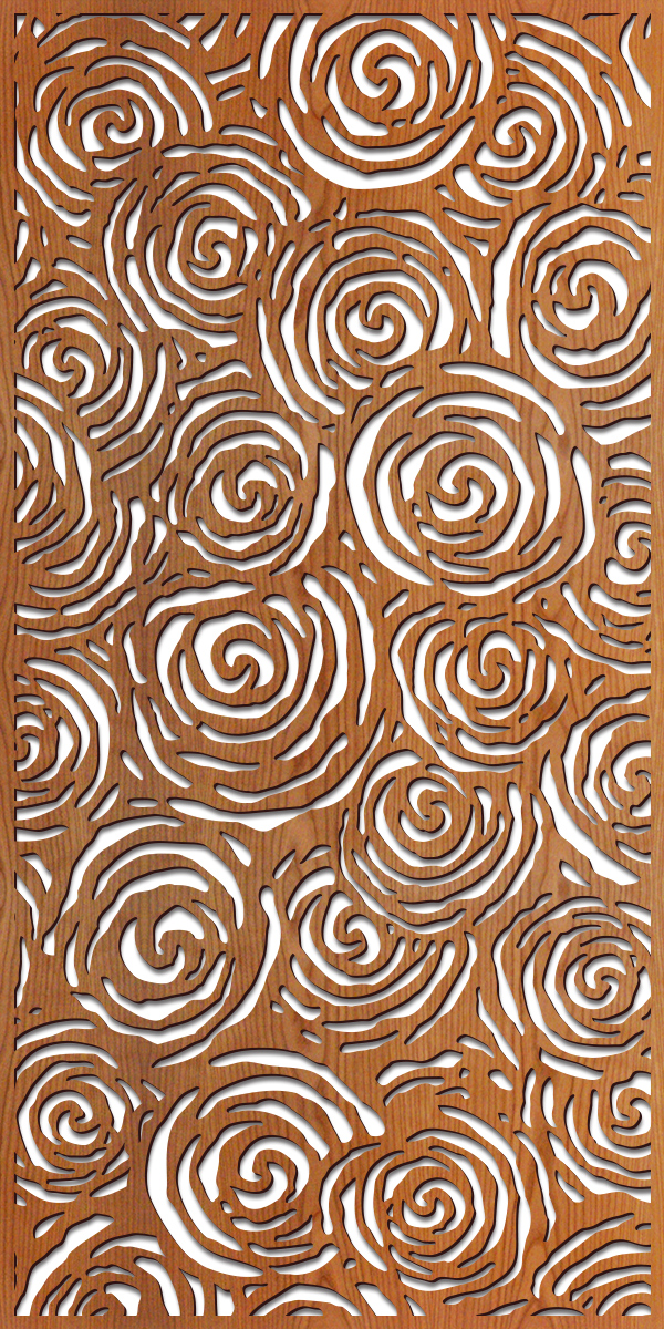 Batik Swirls at 4' x 8' scale