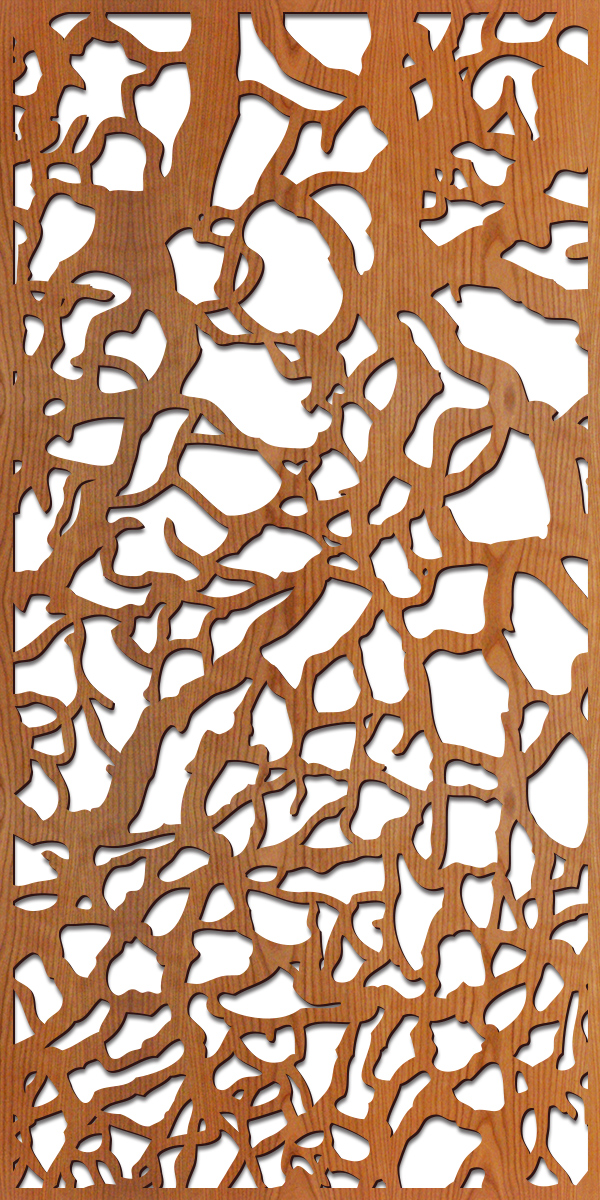 Branches pattern at 4' x 8' scale