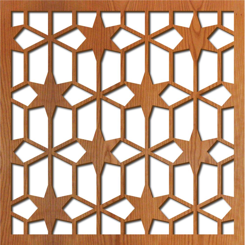 "Breezeway Stars pattern at 23"" x 23"" scale"