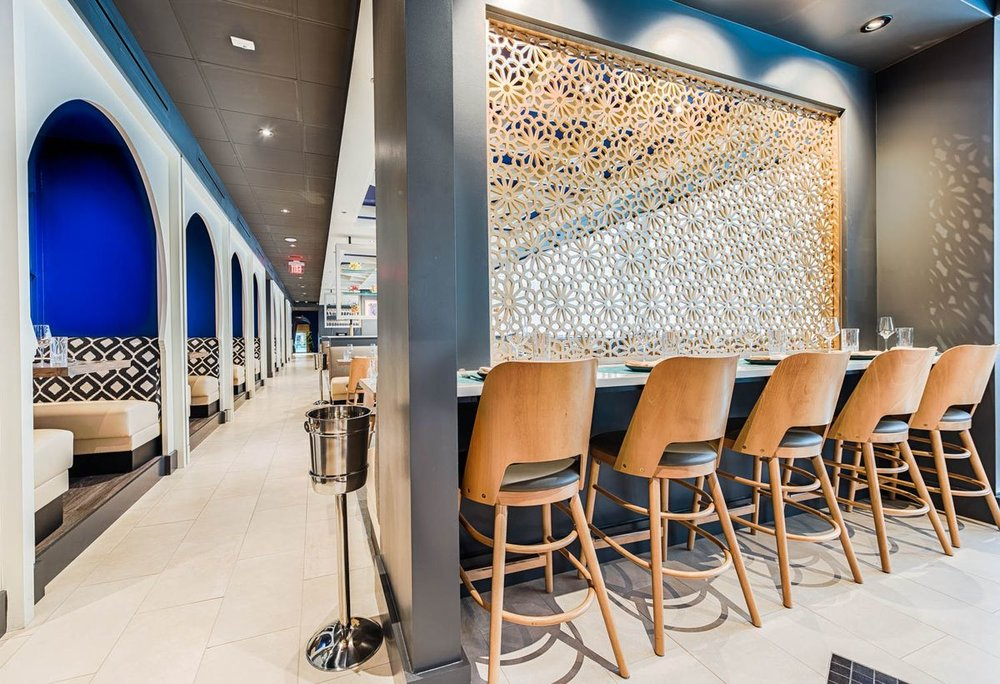 Arroz by Mike Isabella, Wasington, DC -  Hospitality Construction Services  Seville, wall partition