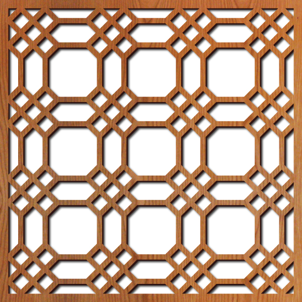 """Chicago Grille pattern at 23"""" x 23"""" scale"""