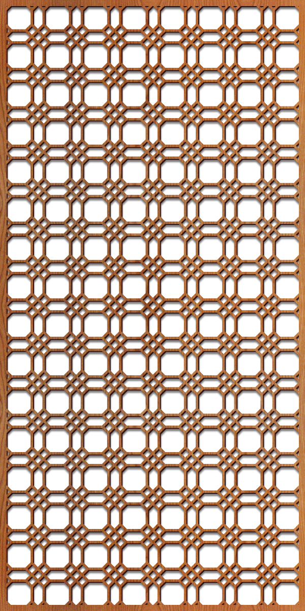 Chicago Grille pattern at 4' x 8' scale