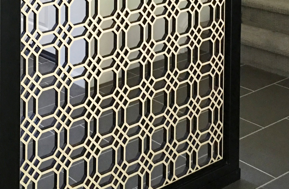 Chicago Grille pattern, room divider