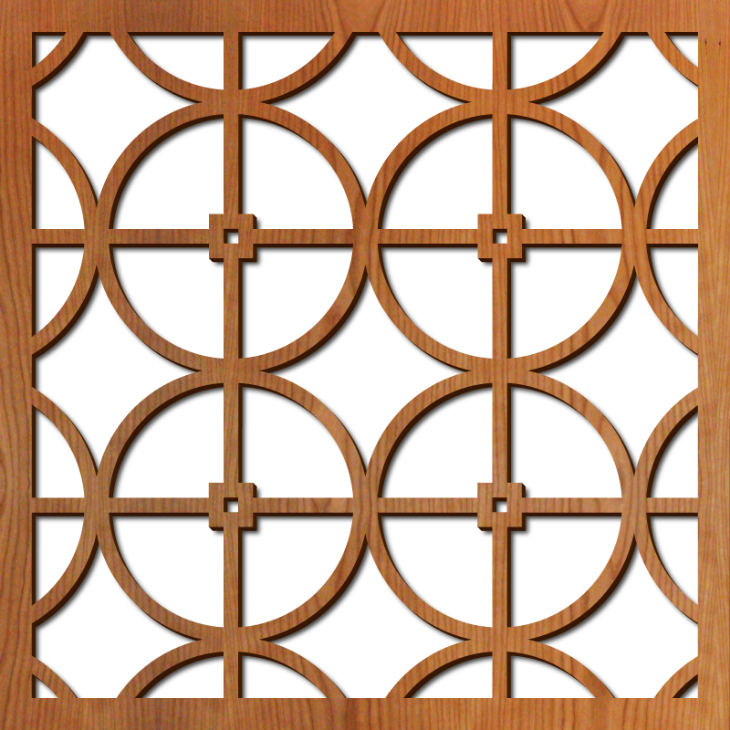 "Circles Grille pattern at 23"" x 23"" scale"
