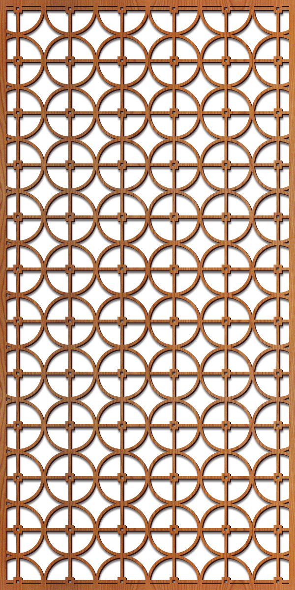 Circles Grille pattern at 4' x 8' scale