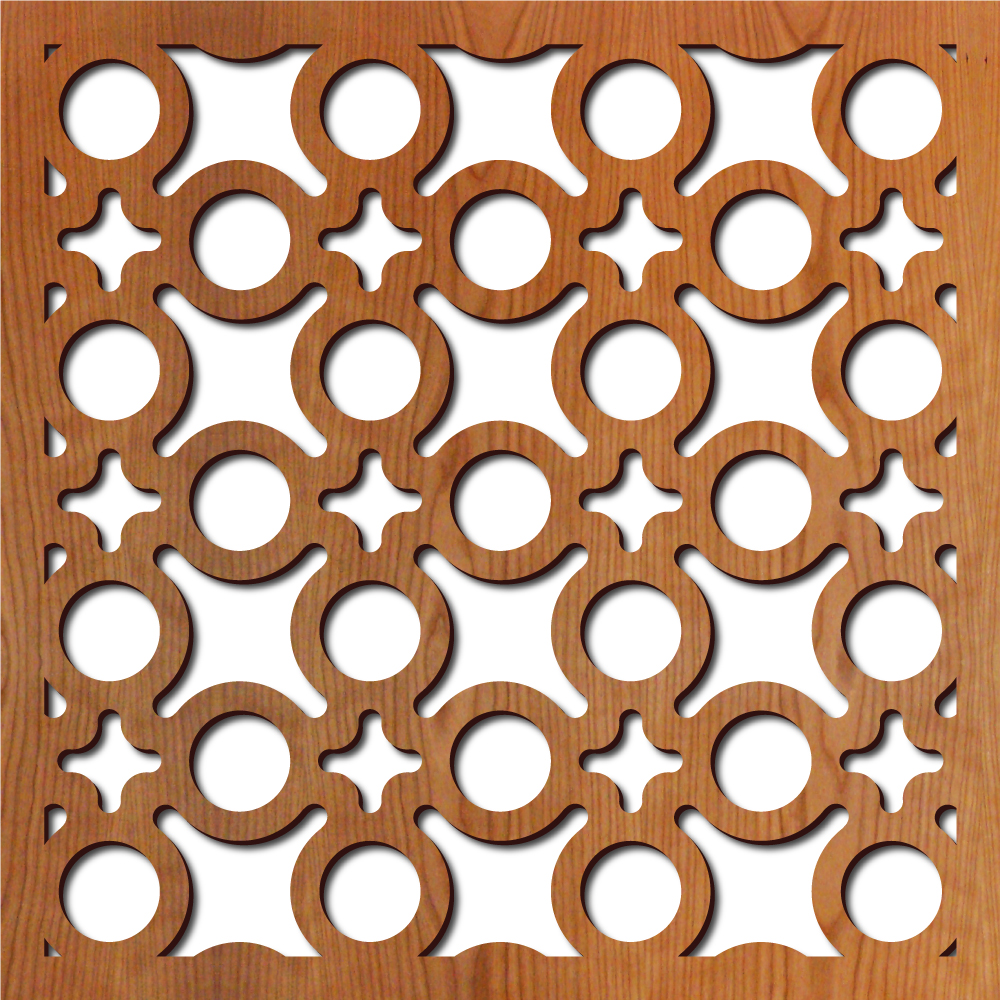 Concrete Block Laser Cut Pattern Lightwave Laser