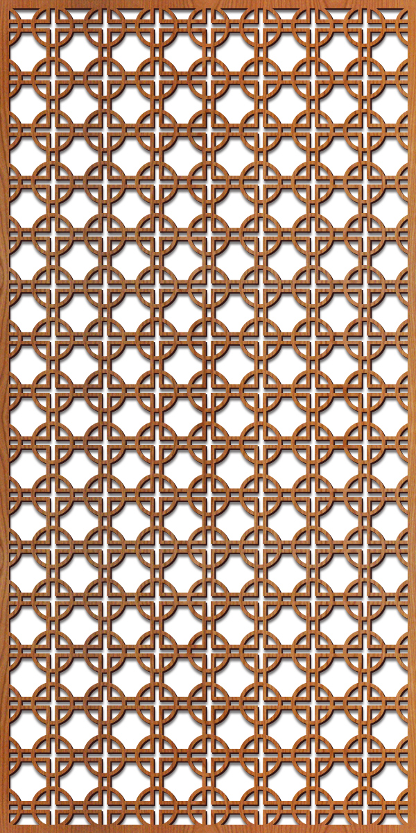 Circles Square pattern at 4' x 8' scale