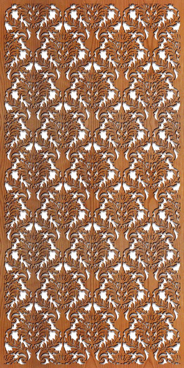 Damask pattern at 4' x 8' scale