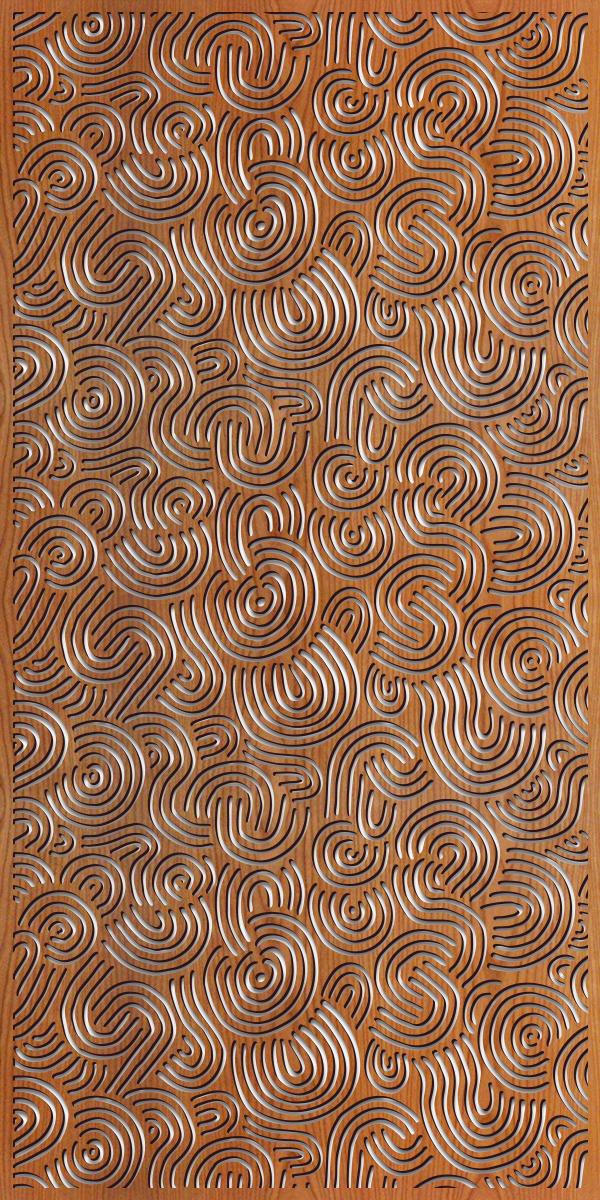 Deco Swirls pattern at 4' x 8' scale