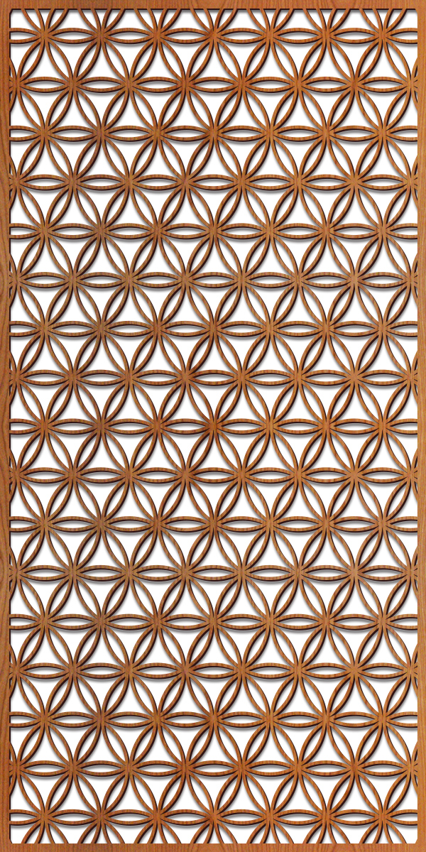Flower of Life pattern at 4' x 8' scale