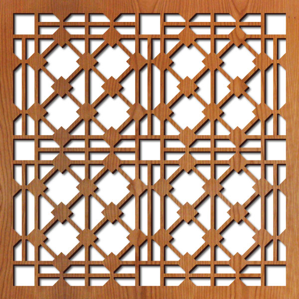 "Hardt Grille pattern at 23"" x 23"" scale"