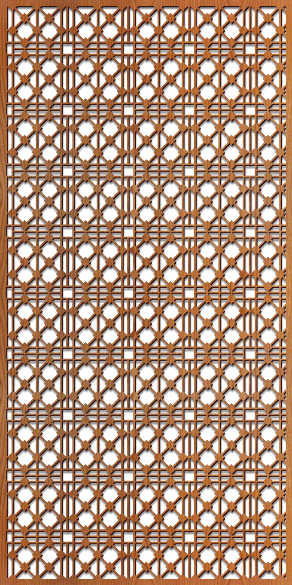 Hardt Grille pattern at 4' x 8' scale
