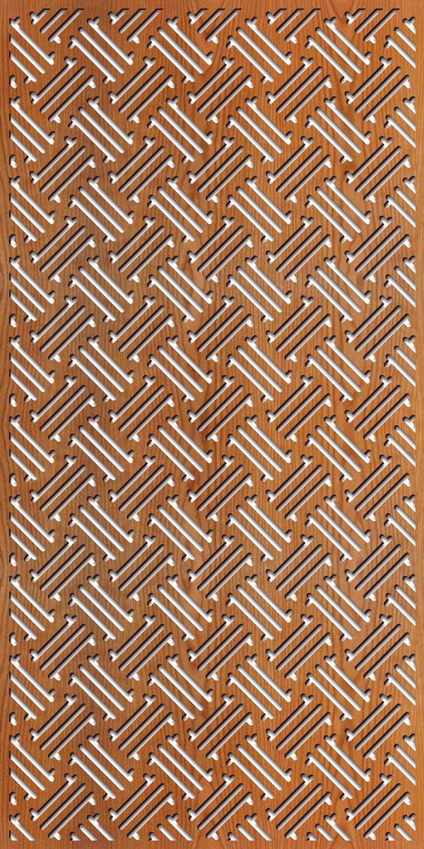 Hawaiian Pattern at 4' x 8' scale