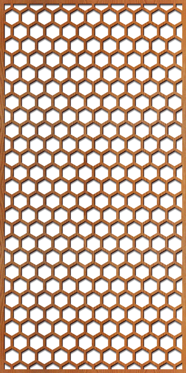 Honeycomb pattern at 4' x 8' scale