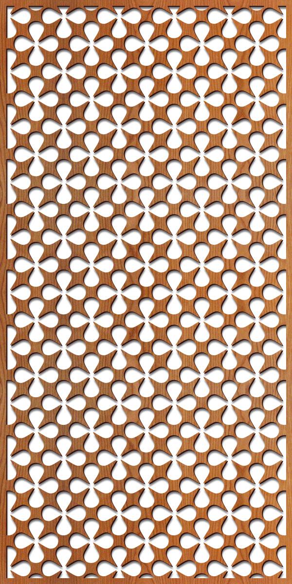 Atomic laser cut pattern, 4' x 8' scale