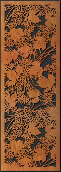 Japanese Leaves Wall Art Lightwave Laser