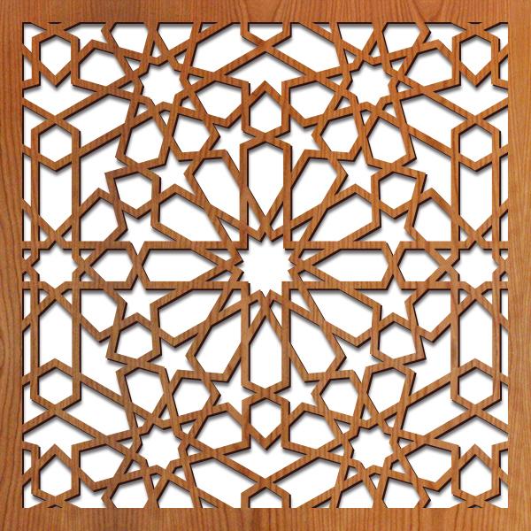 "Medina pattern at 23"" x 23"" scale"