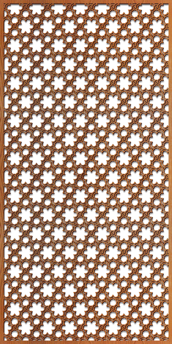 Woven Flowers pattern at 4' x 8' scale