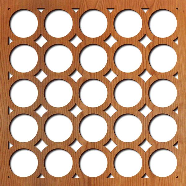 "Santa Monica pattern at 23"" x 23"" scale"