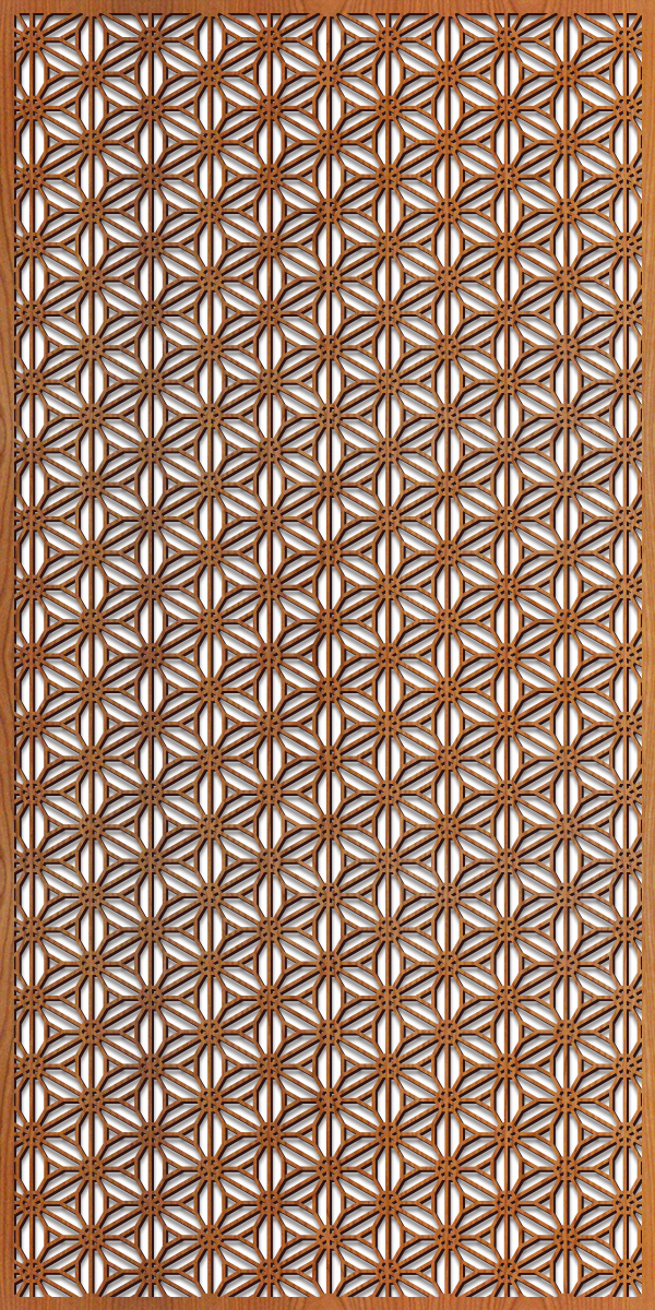 Reverse Flower pattern at 4' x 8' scale