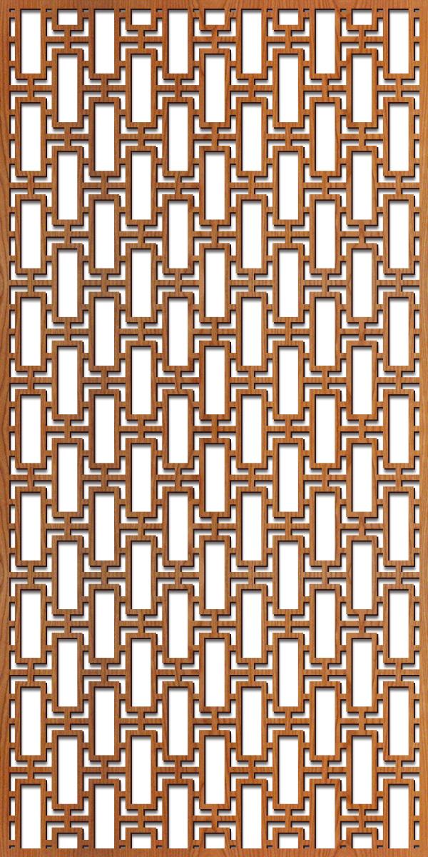 Rectangular Lattice pattern at 4' x 8' scale