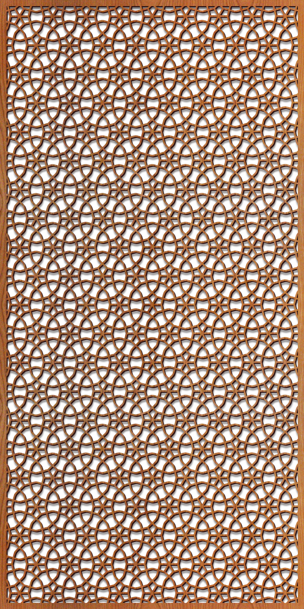 Persian Wheels pattern at 4' x 8' scale